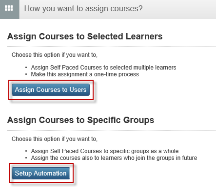AssignCourses