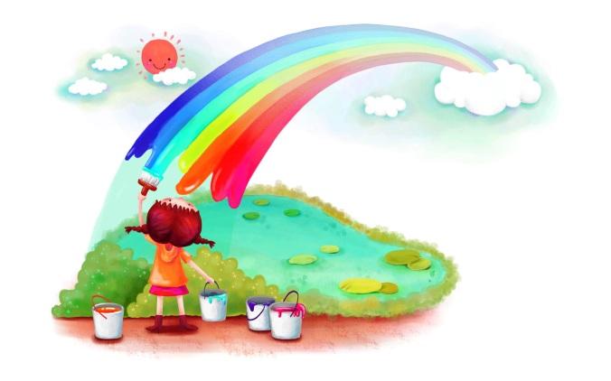 kids-creativity-rainbow-painting-photos